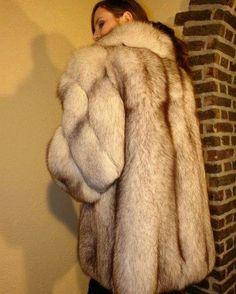 White Fox, Blue And White, Fabulous Fox, Stunning Brunette, Fox Fur Coat, Fur Fashion, Fur Collars, Fur Jacket, Photos