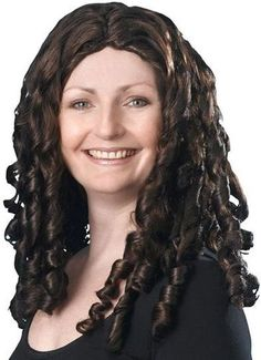 SPIRAL CURLY WIG 16 BROWN. (FANCY DRESS WIGS) | eBay paid 7.50