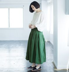 Natulan Japan culottes (yes, culottes) Natural Styles, Japan Fashion, Girly Things, Ideias Fashion, Midi Skirt, High Waisted Skirt, My Style, Skirts, Cotton