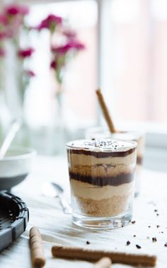 Peanut butter, cream cheese and chocolate parfaits