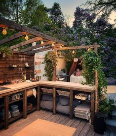 Small Outdoor Spaces, Outdoor Areas, Outdoor Rooms, Outdoor Living, Outdoor Structures, Outdoor Decor, Outdoor Bbq Kitchen, Outdoor Kitchen Design, Backyard Barn
