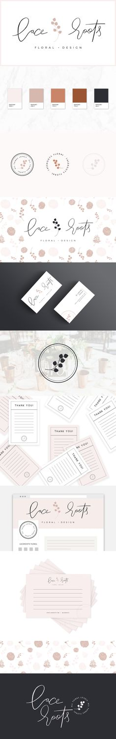 laceroots floral rebranding | earthy, natural, authentic, rooted, neutral branding | Reux Design Co.