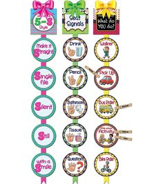Add flair and fun to your classroom or activity center with the Teacher Created Resources Classroom Management Ready Reminders. The pack consists of 18 circles, three headers, single-sided rib First Grade Classroom, Kindergarten Classroom, School Classroom, Future Classroom, Kindergarten Readiness, Classroom Behavior Management, Classroom Procedures, Class Management, Classroom Design