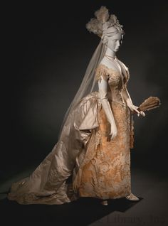 Wedding dress ca. 1885  From the Helen Larson Historic Fashion Collection at the FIDM Museum