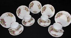 Bell Fine Bone China Vintage Floral Tea Trio Sets by Shore and Coggins TS28