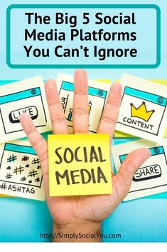Do you know these five social media platforms that you can't afford to ignore? http://simplysocialyou.com/blog/social-media-platforms/ #socialmediatips