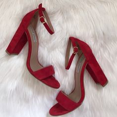 "Steve Madden Carrson Suede Heels In gently used condition. 4"" heel. A Steve Madden favorite still being sold online Steve Madden Shoes"
