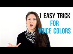 1 EASY Trick for VOICE COLORS #singingtips