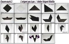 Atelier Origami KitoKito Diagramme Chauve-souris 2
