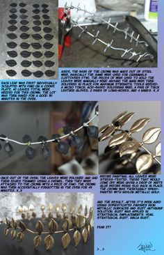 Kid Icarus - Pit crown tutorial. Will use for my female Pit cosplay!