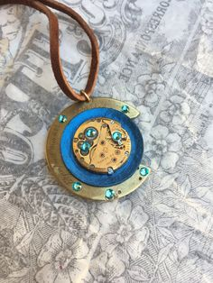 SALE Women's Gold & Blue Steampunk by RetroHippieUnlimited on Etsy