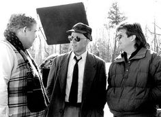 "Hughes directing Candy & Martin on ""Planes, Trains & Automobiles"" circa '86!"