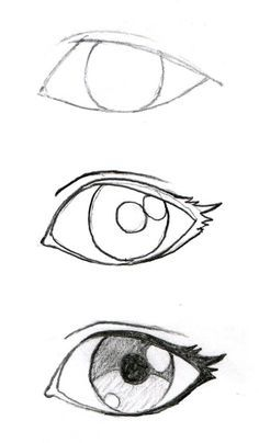 Some good eyelash info! JohnnyBro's How To Draw Manga: Drawing Manga Ey. Some good eyelash info! JohnnyBro's How To Draw Manga: Drawing Manga Eyes (Part I) - Drawing Techniques, Drawing Tips, Drawing Reference, Drawing Sketches, Easy Eye Drawing, Drawing Drawing, Eye Sketch, How To Sketch Eyes, Anime Sketch