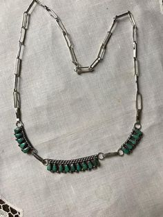 Early Zuni Pettipoint Necklace