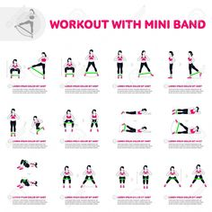 Workout with mini band. Fitness, Aerobic and workout exercise. - fitness - Workout With Mini Band. Fitness, Aerobic And Workout Exercise. Royalty Free Cliparts, Vectors, And - Fitness Workouts, Fitness Logo, Fitness Tips, Butt Workouts, Fitness Journal, Fitness Wear, Fitness Planner, Fitness Nutrition, Inner Leg Workouts