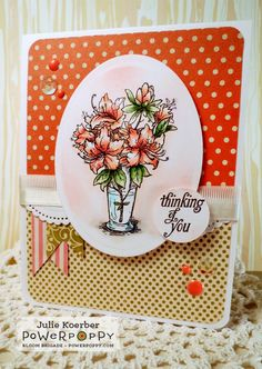 Out To Impress: Dose of Friday Fun! Azalea stamp set by Power Poppy, Card design by Julie Koerber.
