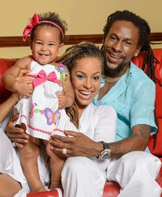 Jah Cure, His Beautiful Wife  Kamila & Their Daughter Kailani