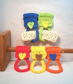 Kitchen Towel Holders. Cotton towel rings by JazzysCrochet on Etsy