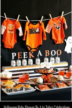 Fall Baby Shower Ideas - Herbst-Baby-Dusche-Ideen - Source by . Otoño Baby Shower, Shower Bebe, Baby Shower Gender Reveal, Baby Shower Parties, Baby Shower Themes, Baby Shower Fall Theme, Baby Shower Decorations For Boys, Baby Gender, Halloween Bebes