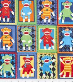 Sock monkey fabric :)