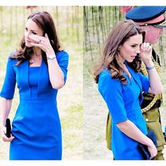 The Duchess of Cambridge brushed away a tear as she walked through a sea of poppies to commemorate the beginning of WW1 today. 5th August 2014