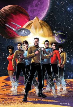 Illustration of the original Star Trek