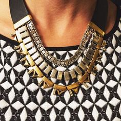 The Natalie over a graphic print #regram from our Chief Creative Officer @blythe.harris #necklace #jotd