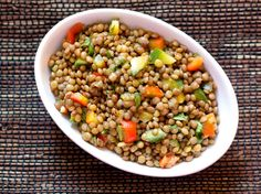 Lentil Bell Pepper Salad