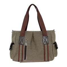YZSKY Womens Washed Canvas Shoulder Handbags Green -- You can find more details by visiting the image link.Note:It is affiliate link to Amazon. #CarryWithYou