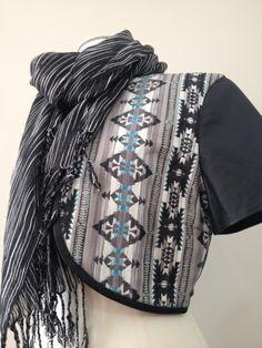 Look Feel Be leather bolero with organic Japanese organic cotton insert $299 x