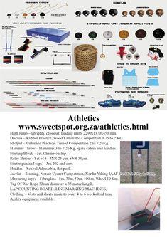 Sweetspot is a sports equipment supplier that supplies a large range of sports. Hammer Throw, Nordic Vikings, Shot Put, Tug Of War, Netball, High Jump, Discus, Hurdles, Wood Laminate