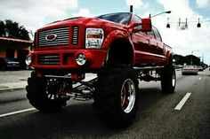 Red Lifted Ford