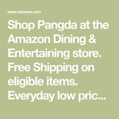 Shop Pangda at the Amazon Dining & Entertaining store. Free Shipping on eligible items. Everyday low prices, save up to 50%.