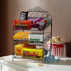 Movie Snack Display    I NEED THIS!!!!!!!!!!!!!