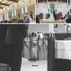 Photographer Saddle Brook  Wedding ceremony at St. Philip the Apostle Church in Saddlebrook, NJ. Captured by NYC wedding photographer Ben Lau Photography.