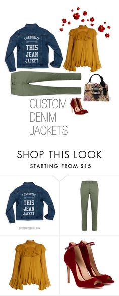 """Custom Jean Jackets"" by customizedgirl ❤ liked on Polyvore featuring Chloé, Gianvito Rossi, Miu Miu and jeanjackets"
