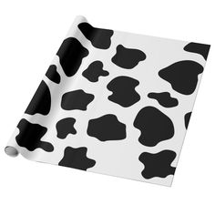 Cusom Wrapping Paper - Cow Spots Pattern Wrapping Paper Animal...,... Animals Black And White, White Cow, Western Theme Decorations, Cow Baby Showers, Cow Spots, Cute Birthday Gift, Funny Birthday, Cute Cows, Paper Animals