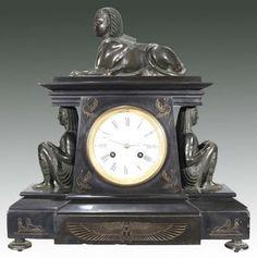 Egyptian Revival French Shelf Clock Circa 1870