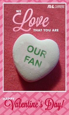We made this #ValentinesDay card just for you - feel free to share it with your fans! #relationshipping