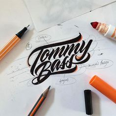 Awesome letter flow. Type by @mdemilan - #typegang - free fonts at typegang.com   typegang.com #typegang #typography