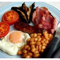 The great British fry-up!  Yes, I know it's really breakfast food..........