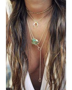 double ring lariat – Kei Jewelry