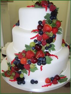 134 best Fresh fruit wedding cakes images on Pinterest   Weddings     No Impact Bride  Fruit Weddings