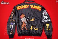 Streetwear Jackets, Black Cartoon, Boys Wear, Line Jackets, Looney Tunes, Warner Bros, Bomber Jacket, Menswear, Sweatshirts