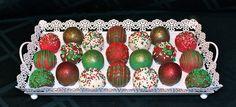 Christmas Cake Balls  Cake by CuteologyCakes