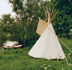 One of my favorite childhood memories is making teepees with sheets in the yard with my little sister and sleeping under the stars. We could see the sky through the hole we left at the top and we could barely sleep it was so beautiful out in the woods at night.
