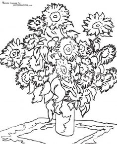 famous artist coloring pages sunflower by claude monet - Artist Coloring Page