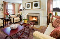 modern living room by Kristen Rivoli Interior Design nice coffee table idea