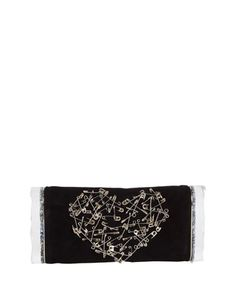 Soft+Lara+Heart+Pin+Clutch+Bag,+Black+by+Edie+Parker+at+Neiman+Marcus.
