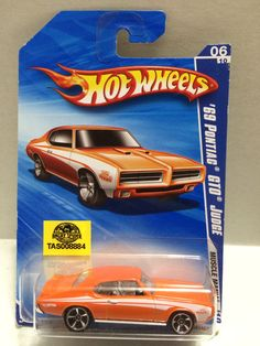 (TAS008884) - Mattel Hot Wheels Racing Stock Car - '69 Pontiac GTO